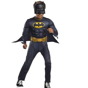 Boys Child BATMAN w/Muscles Costume Sz Sm 4/6  NWT